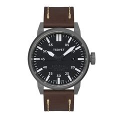 The TSOVET Automatic Swiss Made watch was Inspired by the WWI infantryman's field watch, the answers the same call to synchronize and coordinate movement, but it does so within the business and social battlefields of today. Driven by an Watch Drawing, Field Watches, Swiss Made Watches, Elegant Watches, 316l Stainless Steel, Automatic Watch, Watches For Men, Men's Watches, Black And Grey