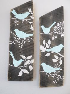 i know i know, put a bird on it. neat idea for with the old living room boards.