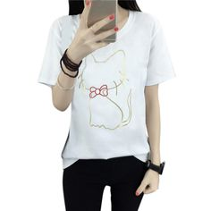 >> Click to Buy <<  Women O Neck Short Sleeve T-Shirts Bottoming Summer Tops Normal Size Tee #Affiliate
