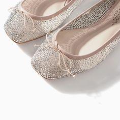 Image 4 of SHINY BALLERINA FLATS from Zara