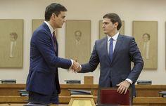 Sánchez y Rivera se unen para reformar la Constitución
