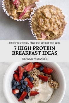 Healthy breakfast recipes are a great way to start the day. And in order to help curb your appetite throughout the day and prevent over eating, protein specifically at breakfast is key! We have compiled several unique and delicious high protein breakfast options for you to try to switch up your morning routine! High Protein Breakfast, Best Breakfast, Healthy Breakfast Recipes, Lunch Recipes, Easy Snacks, Healthy Snacks, On The Go Snacks, Vegetarian Lunch, Breakfast Options