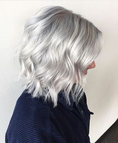 Silver hues. Color by @hairbyrubymay #hair #hairenvy #hairstyles #haircolor #silverhair #grayhair #platinum #newandnow #inspiration #maneinterest
