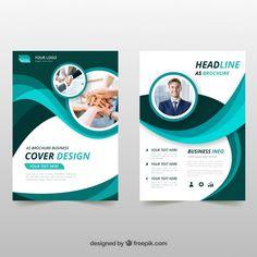 Wavy green business brochure Free Vector - My Recommendations Banner Design, Flyer Design, Web Design, Medical Brochure, Business Brochure, Brochure Cover, Brochure Layout, Modele Flyer, Graphic Design Brochure