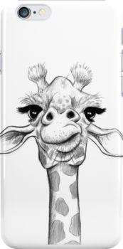 Sketch Giraffe Snap Case for iPhone 6 & iPhone Giraffe Drawing, Giraffe Art, Cow Drawing Easy, Donkey Drawing, Animal Sketches, Animal Drawings, Drawing Sketches, Drawing Tips, Sketching