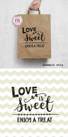 "Wedding candy bar snoep buffet teken ""Love is Sweet, geniet van een traktatie"" digitale cut bestanden, SVG, DXF, studio3 voor cricut, silhouette cameo, stickers"