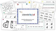 Literele b si d - confuzie - activitati ajutatoare - EmaLaScoala Journal, Homeschooling, Workout, Projects, Dyslexia, Log Projects, Work Outs, Journal Entries, Journals