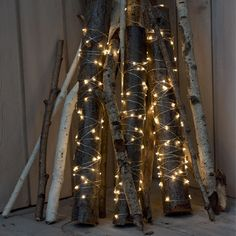 Decorating with fairy lights, fireplace ideas