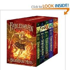 Fablehaven series by Brandon Mull.  A great read  - my kids loved them so much, that I decided to read them.  A fun read full of great lessons, action, and creativity.  Can't say enough good things about it.