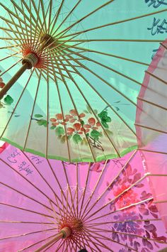 Parasols.When I was young, the most exciting thing my mom bought at the 5 & 10 were these parasols.
