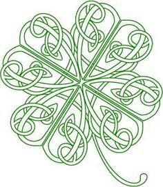 Celtic Knot Four Leaf Clover Tattoo Clipart