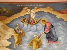 Themis Petrou - Saint Ioanni's Rentis Church - Find Creatives Saint Anthony Church, Church Interior Design, Byzantine Art, Orthodox Icons, Athens Greece, Fresco, Nashville Tennessee, Saints, Religion