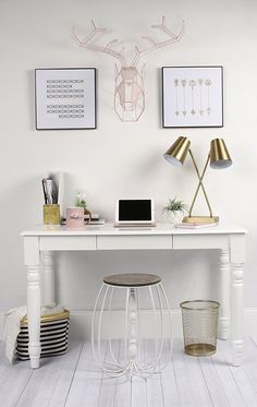 gentle modern home office desks natural beauty meets gentle modernity with this metal hanging deer head wall art made of 190 best pretty home office images on pinterest in 2018 desk home