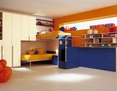 nice 9 Blue Orange Bedroom Ideas