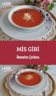 Tomatensuppe Wie Mis - Pin This Iftar, Turkish Recipes, Tomato Soup, Mac And Cheese, Food And Drink, Menu, Yummy Food, Cooking, Breakfast