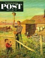 Putting up Birdhouses (John Clymer, June 9, 1951)