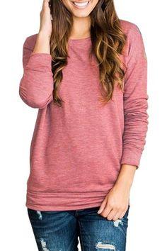 Red Rays Back Long Sleeve Pullover Sweatshirt #winterfashion #pullover #sweatshirts