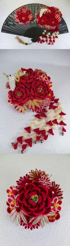 椿と松竹梅のかんざし - 和の結婚式~江戸つまみかんざし~ - Yahoo!ブログ http://blogs.yahoo.co.jp/saitama_foot/33490661.html