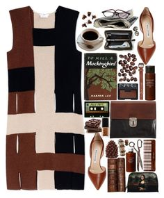 """Cinnamon"" by ritaflagy ❤ liked on Polyvore featuring Edun, NARS Cosmetics, Manolo Blahnik, Muji, Konstantino, (MALIN+GOETZ), H&M, Marni and Urban Renewal"