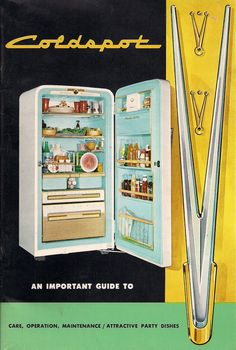 Manual for the Coldspot refrigerator by Raymond Loewy, 1935.