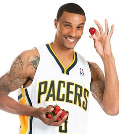 George Hill, Strawberries-ProduceMom awesome Hero clips to show in health classes for attention getters in a Nutrition unit Indiana Pacers Players, Jay Alvarrez, Nba Stephen Curry, George Hill, Tattoo For Son, Baseball Players, Nba Players, Health Class, Baby George