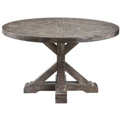 Add a touch of coastal style to your living room with this Bridgeport cocktail table. Made of solid wood and birch veneers, this round table is sized just right for keeping snacks on hand while you si