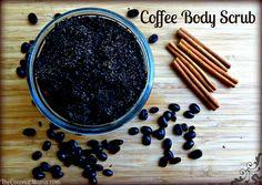Antioxidant Coffee Body Scrub with Coconut Oil - coffee, sugar or salt, coconut oil, cinnamon, and vanilla