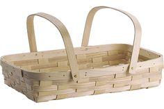 "Double Handle Garden Basket [1] 20"" x 13"" x 4""  $37.00 Price shown: EA"