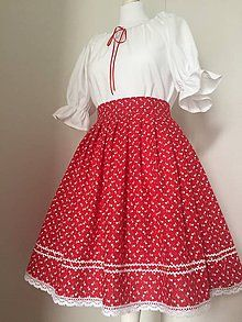 Folklórny komplet / ivapetrovska - SAShE.sk - Handmade Šaty Waist Skirt, High Waisted Skirt, Skirts, Fashion, Moda, High Waist Skirt, Fashion Styles, Skirt