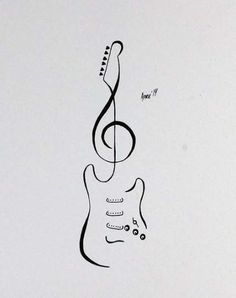 62 Trendy Music Note Tattoo On Side Tatoo Guitar Doodle, Music Doodle, Guitar Art, Music Guitar, Music Music, Music Drawings, Music Artwork, Doodle Drawings, Tattoo Drawings