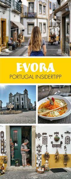 Portugal Insider Tipp: Evora ist eine charmante Stadt im Herzen der trockenen Alentejo Region in Zentralportugal. Historisch war Evora ein bedeutendes Handels- und Religionszentrum, was man alleine an der Vielzahl touristischer Stätten sehen kann. Die meisten dieser Attraktionen liegen bequem erreichbar innerhalb der historischen Innenstadt. Ein wunderschöner Ort. Alle Tipps bei lilies-diary.com.