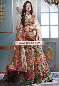 25 Trendy Lehenga designs for Navratri & Garba 2019 - Buy lehenga choli online Indian Bridal Outfits, Indian Bridal Fashion, Indian Bridal Wear, Pakistani Couture, Pakistani Dresses, Indian Dresses, Indian Sarees, Pakistani Bridal, Lehenga Style