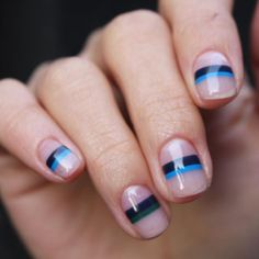 minimalist negative space nail art