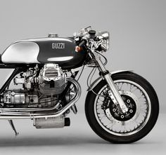 A Guzzi cafe racer inspired by Red Bull F  cars