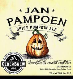 Jan Pampoen. Ale from Cedarbrew in South Africa
