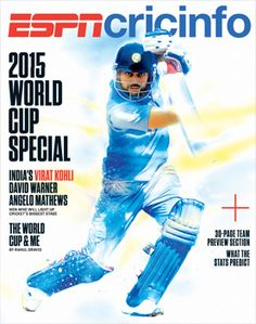 Get your digital subscription/issue of ESPN The Magazine-ESPN Cricinfo 2015 World Cup Magazine on Magzter and enjoy reading the magazine on iPad, iPhone, Android devices and the web. Icc Cricket, Cricket Score, Cricket World Cup, World 1, World Cup 2014, Match Schedule, David Warner, Sports Magazine, Espn