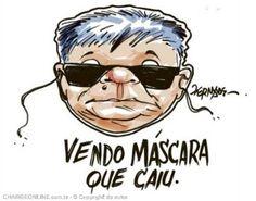 IRAM DE OLIVEIRA - opinião: Charge: caiu a máscara do Japonês da Federal