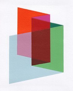 "Giclee print - ""Folds"" - 13"" x 16"" modern geometric abstract art. $30.00, via Etsy."