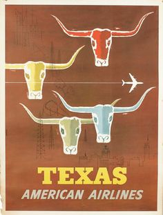 Old airline poster.