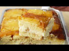 COMO FAZER O MELHOR BOLO DE ABACAXI GELADO   SUPER FÁCIL   Gabriel Freitas - YouTube Sweet Recipes, Cake Recipes, Dessert Recipes, Desserts, Icebox Cake, Pasta, Cake Videos, Cake Pops, Cornbread