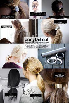 Hello Whimsy DIY METAL PONYTAIL CUFF Hair Diy Pinterest - Ponytail cuff diy