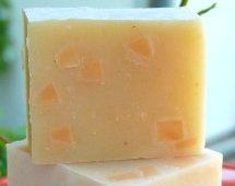 """""""Contrary Mary"""" Scented with Sweet Orange, Palmarosa, Rosewood and Ylang Ylang essential oils give this lovely pale yellow bar a delicious citrus scent while the cornmeal provides a fantastic gentle scrub."""