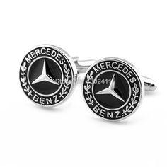 Car Logo Benz Cufflinks w/Gift Box Free Shipping $7.99