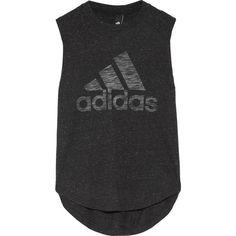 Adidas Performance Winners slub jersey tank ($30) ❤ liked on Polyvore featuring activewear, activewear tops, black, slub jersey, adidas sportswear, adidas and adidas activewear #activeweartrends