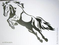 Картина, панно, рисунок Вырезание, Вырезание силуэтное: Навырезалось ... Лошади Бумага. Фото 7