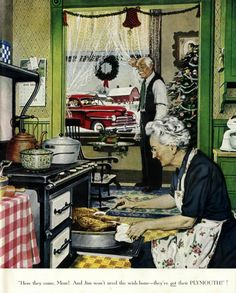 Preparing for the family homecoming (In the Good Old Days) ~Repinned Via Cheryl…