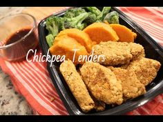 These are a great alternative to Chicken tenders or mock meats. Every time I make them everyone loves them carnivores included! Chickpea Tenders w/Flaxseed I. Whole Food Recipes, Cooking Recipes, Free Recipes, Dinner Recipes, Vegan Chicken Nuggets, Chickpea Sandwich, Vegan Lunch Box, Plant Based Nutrition, Healthy Dishes