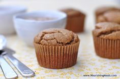 Nourishing Meals: Banana Almond Butter Muffins (gluten-free, grain-free, dairy-free)