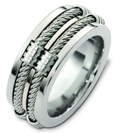 Cable mens ring #mensrings