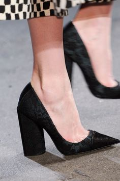 christian siriano shoes/Love chunky heel and pointed toe look good with a wide legged pant,